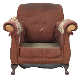 Furniture Medic of the Greater Toronto Area Upholstery and Leather Furniture Repairs and Restoration Before